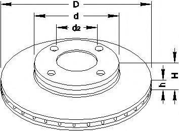 Disc frana AUDI 500 (43, C2), AUDI 500 (44, 44Q, C3), AUDI 100 Avant (43, C2) - TOPRAN 103 701