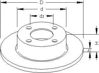 Disc frana AUDI 90 (8C, B4), AUDI 80 Avant (8C, B4), AUDI 500 (44, 44Q, C3) - TOPRAN 103 702