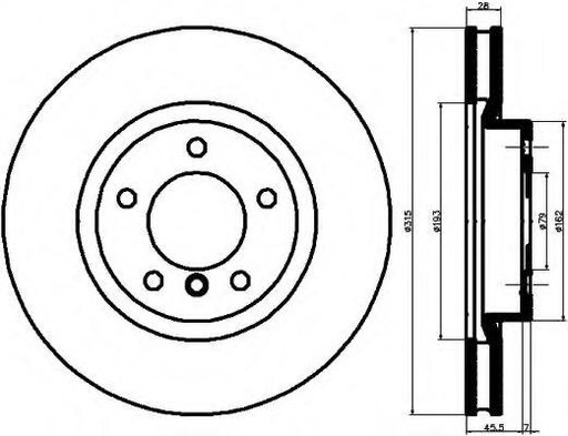 Disc frana BMW 3 limuzina (E36), BMW 3 cupe (E36), BMW 3 Cabriolet (E36) - MINTEX MDC1524