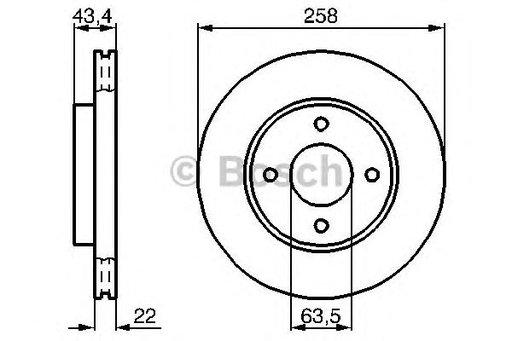 Disc frana BOSCH 0986478892 fata Ford Focus Combi
