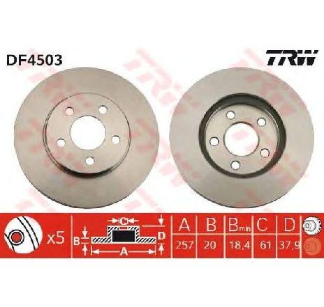 Disc frana CHRYSLER NEON II 08/1999 - 12/2006 - producator TRW DF4503 - 304368 - Piesa Noua