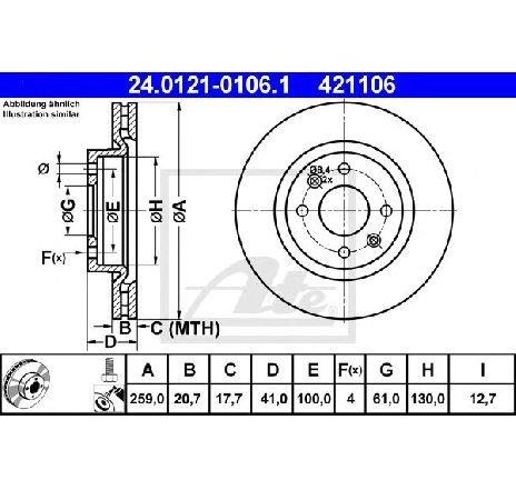 Disc frana DACIA LOGAN MCV (KS) 1.6 MPI 85 05/2010