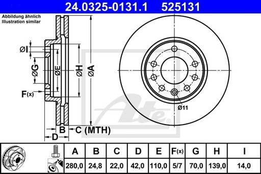 DISC FRANA FATA - ATE - 24.0325-0131.1