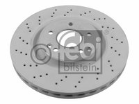 Disc frana fata perforat febi r330mm pt mercedes clk c209, c-class c203, cl203, slk r171