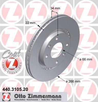 Disc frana fata Peugeot 207 1,4 HDI --- Zimmermann