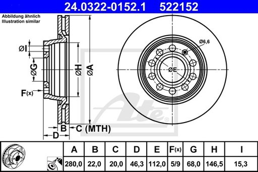 Disc Frana Fata - POWER DISC - ATE - 24.0322-0152.1