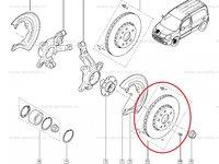 Disc frana fata Renault Kangoo, Mercedes Citan , ventilat 280x24mm, Set 2 buc, Produs Original Renault 7701209839