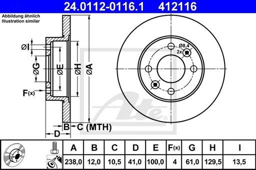 DISC FRANA FATA Stanga/DR - ATE - 24.0112-0116.1