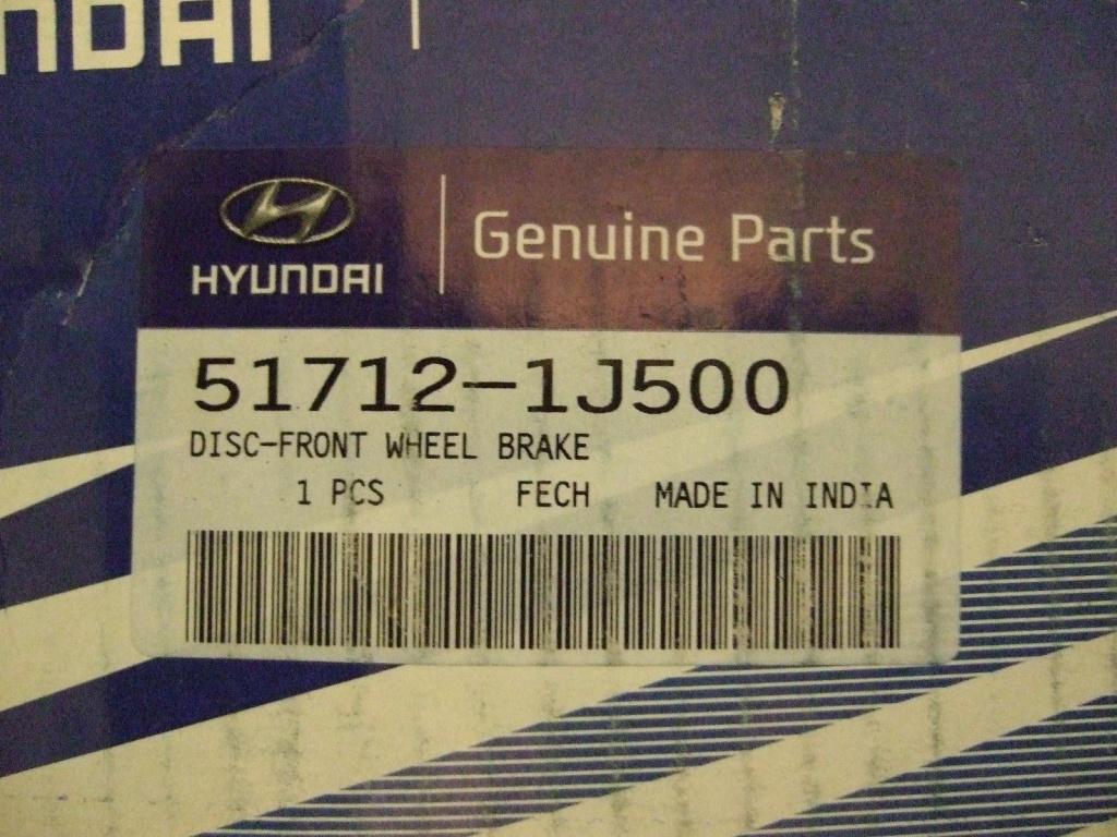 Disc frana fata stanga / dreapta Hyundai I20 ( an 2008-2015) NOU / ORIGINAL 51712-1J500