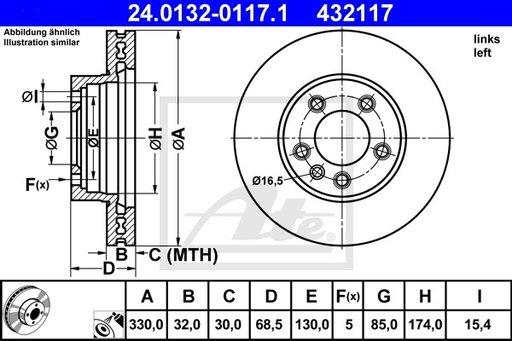 DISC FRANA FATA STG - ATE - 24.0132-0117.1