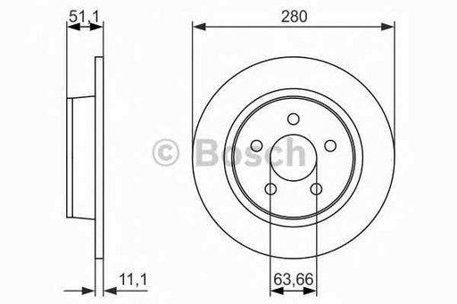 Disc frana FORD C-MAX II BOSCH 0 986 479 762