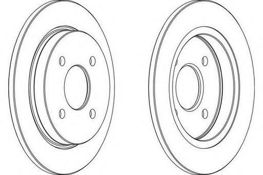 Disc frana FORD SIERRA hatchback (GBC, GBG), FORD SIERRA (GBG, GB4), FORD SIERRA hatchback (GBC) - WAGNER WGR0281-1