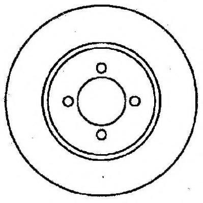 Disc frana FORD SIERRA hatchback (GBC, GBG), FORD SIERRA (GBG, GB4), FORD SIERRA combi (BNG) - JURID 561374J