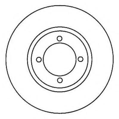 Disc frana FORD SIERRA hatchback (GBC, GBG), FORD SIERRA (GBG, GB4), FORD ESCORT Mk VI (GAL) - JURID 561700J