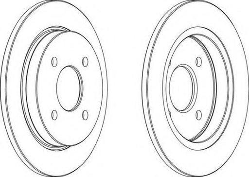 Disc frana FORD SIERRA hatchback (GBC, GBG), FORD SIERRA (GBG, GB4), FORD SIERRA hatchback (GBC) - FERODO DDF281