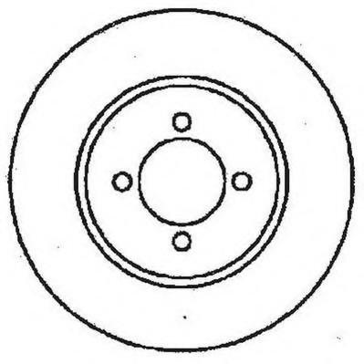 Disc frana FORD SIERRA hatchback (GBC, GBG), FORD SIERRA (GBG, GB4), FORD SIERRA hatchback (GBC) - JURID 561375JC