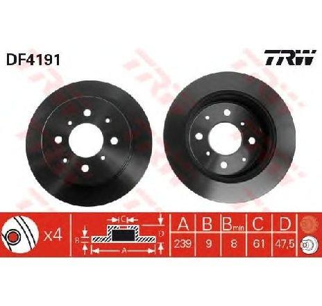 Disc frana HONDA NSX CUPE ( NA ) 06/1990 - 09/2005 - producator TRW DF4191 - 301262 - Piesa Noua