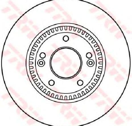 Disc frana HYUNDAI TUCSON ( JM ) 08/2004 - 03/2010 - piesa NOUA - producator TRW DF6108S - 305157