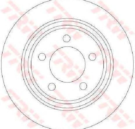Disc frana MAZDA 5 ( CR19 ) 02/2005 - 2019 - piesa NOUA - producator TRW DF4420 - 305410