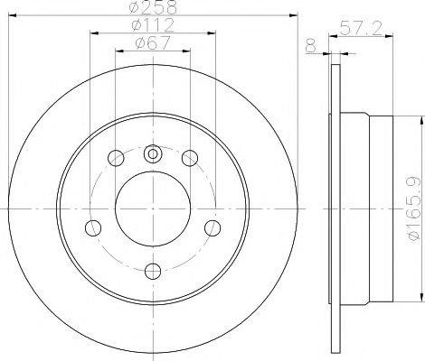 Disc frana MERCEDES B-CLASS (W245) (2005 - 2011) HELLA PAGID 8DD 355 111-101 - piesa NOUA