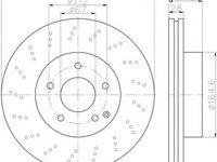 Disc frana MERCEDES-BENZ C-CLASS T-Model S204 HELLA 8DD355114391