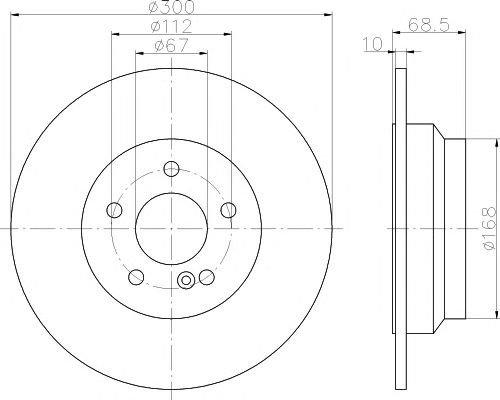 Disc frana MERCEDES-BENZ CLS (C218), E (W211, W212) 1.8-3.2 03.02- (spate) - OEM-TEXTAR:92115405 - Cod intern: 92115405