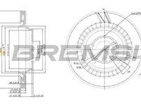 Disc frana MERCEDES-BENZ S-CLASS W220 BREMSI DBB906V