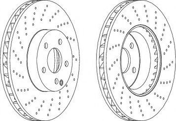 Disc frana MERCEDES C-CLASS T-Model (S204) (2007 - 2014) FERODO DDF1694C-1 - produs NOU
