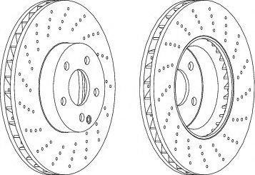 Disc frana MERCEDES C-CLASS (W204) (2007 - 2014) FERODO DDF1694C-1 - produs NOU
