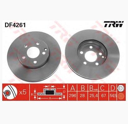 Disc frana Mercedes E Class W211 fata 2114210712 TRW
