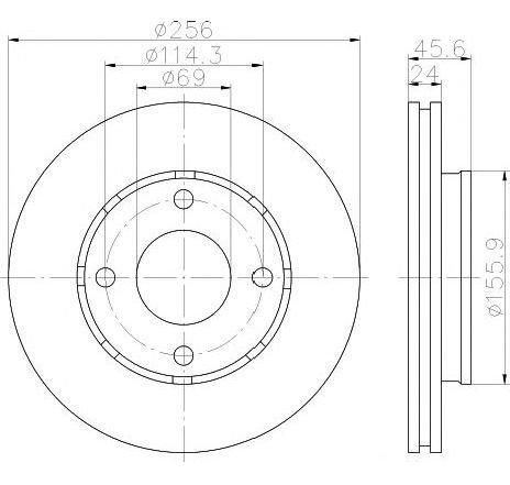 Disc frana MITSUBISHI COLT VI ( Z3A, Z2A ) 10/2002 - 06/2012 - piesa NOUA - producator TEXTAR 92134803 - 305126