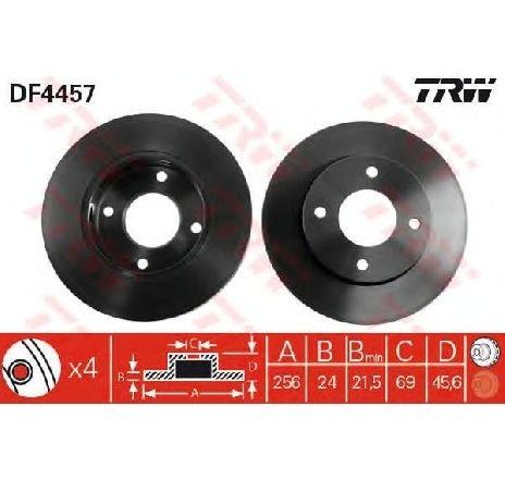 Disc frana MITSUBISHI COLT VI ( Z3A, Z2A ) 10/2002 - 06/2012 - piesa NOUA - producator TRW DF4457 - 305126