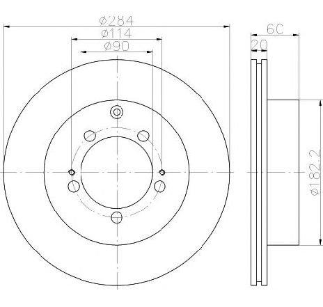 Disc frana MITSUBISHI LANCER VI ( CJ-CP ) 09/1995 - 08/2003 - piesa NOUA - producator TEXTAR 92134700 - 301549