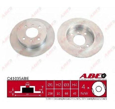 Disc frana NISSAN ALMERA MK II ( N16 ) 06/2000 - 2019 - piesa NOUA - producator ABE C41035ABE - 304651