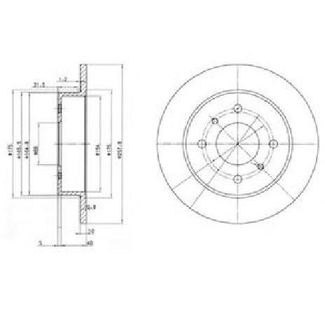 Disc frana NISSAN ALMERA MK II ( N16 ) 06/2000 - 2019 - piesa NOUA - producator DELPHI BG2633 - 304651