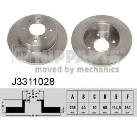 Disc frana NISSAN ALMERA MK II ( N16 ) 06/2000 - 2019 - piesa NOUA - producator NIPPARTS J3311028 - 304651