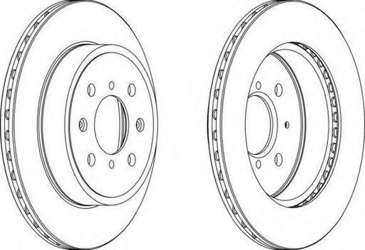 Disc frana OPEL AGILA (A) (H00), VAUXHALL AGILA Mk I (A), SUZUKI WAGON R+ (MM) - FERODO DDF1509
