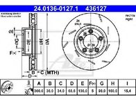 Disc frana PORSCHE PANAMERA 970 PRODUCATOR ATE 24.0136-0127.1