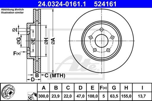 Disc Frana, Power Disc - ATE - 24.0324-0161.1