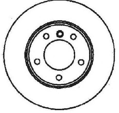 Disc frana punte fata BMW Z3 ( E36 ) 10/1995 - 01/2003 - producator JURID 561551JC - 303483 - Piesa Noua