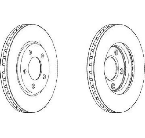 Disc frana punte fata CHRYSLER VOYAGER IV ( RG, RS ) 09/1999 - 12/2008 - producator FERODO DDF1214 - 300874 - Piesa Noua