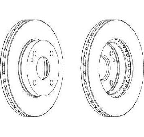 Disc frana punte fata MAZDA 323 C IV ( BG ) 06/1989 - 09/2000 - producator FERODO DDF393 - 300356 - Piesa Noua