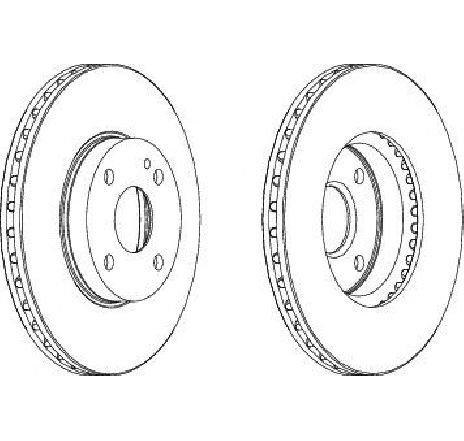 Disc frana punte fata MAZDA 323 S VI ( BJ ) 05/1998 - 05/2004 - producator FERODO DDF495 - 303852 - Piesa Noua