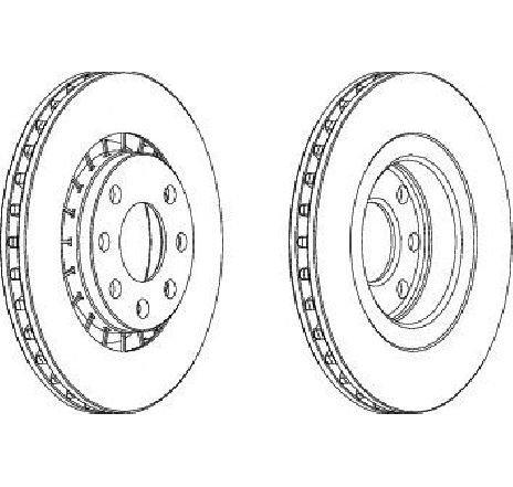 Disc frana punte fata OPEL ASTRA F hatchback ( 53, 54, 58, 59 ) 09/1991 - 01/1998 - producator FERODO DDF206C-1 - 300388 - Piesa Noua