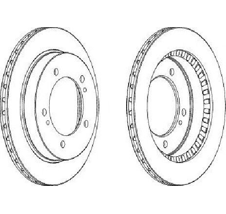 Disc frana punte fata SUZUKI VITARA Cabrio ( ET, TA ) 07/1988 - 10/2002 - producator FERODO DDF746-1 - 301880 - Piesa Noua
