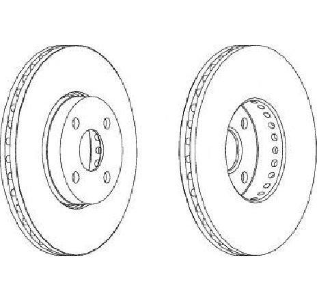 Disc frana punte fata TOYOTA COROLLA Verso ( ZDE12, CDE12 ) 09/2001 - 05/2004 - producator FERODO DDF1388-1 - 304854 - Piesa Noua