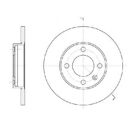 Disc frana punte fata VW VENTO ( 1H2 ) 11/1991 - 09/1998 - producator ROADHOUSE 6088.01 - 303886 - Piesa Noua