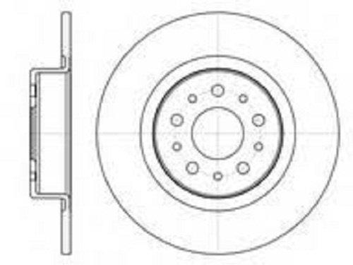 Disc frana QWP , puntea spate , ALFA ROMEO 147 01.2001-03.2010