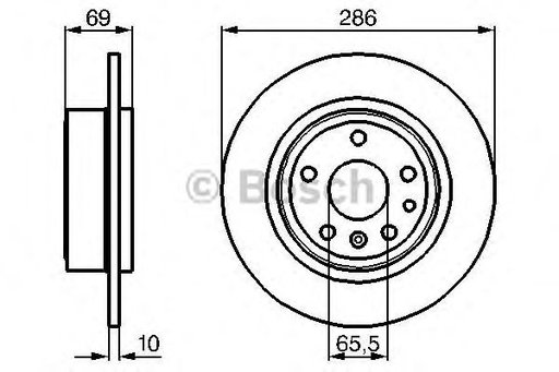 Disc frana SAAB 9-5 Turbo - OEM-BOSCH:0 986 478 478 - Cod intern: W00279733