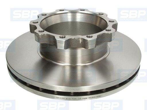 Disc frana sbp r432mm pt man tga,tgx,f2000 modele fara abs